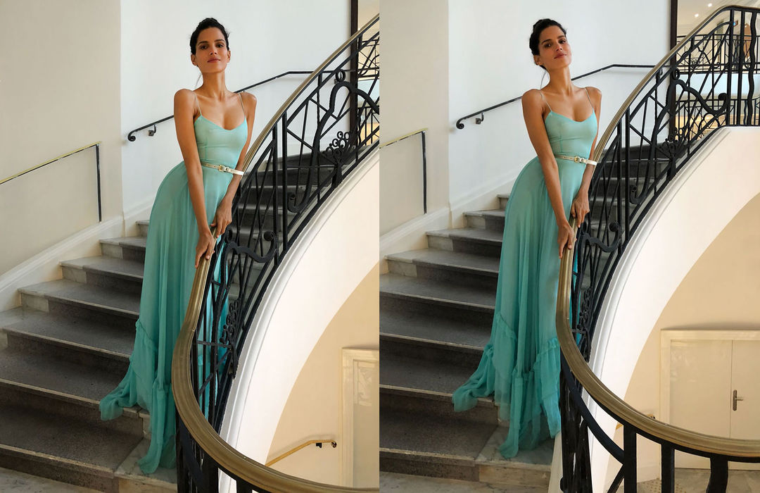 RAICA OLIVEIRA DRESSED BY RAQUEL BALENCIA FOR CANNES FILM FESTIVAL 20182
