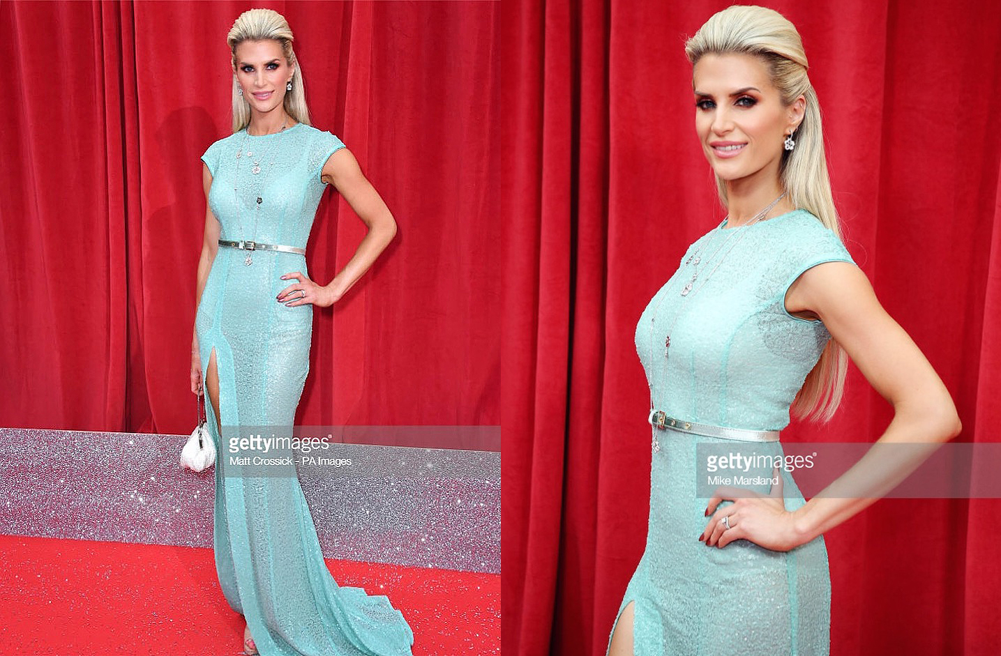 SARAH JAYNE DUNN DRESSED BY RAQUEL BALENCIA FOR BRITISH SOAP WARDS 2018