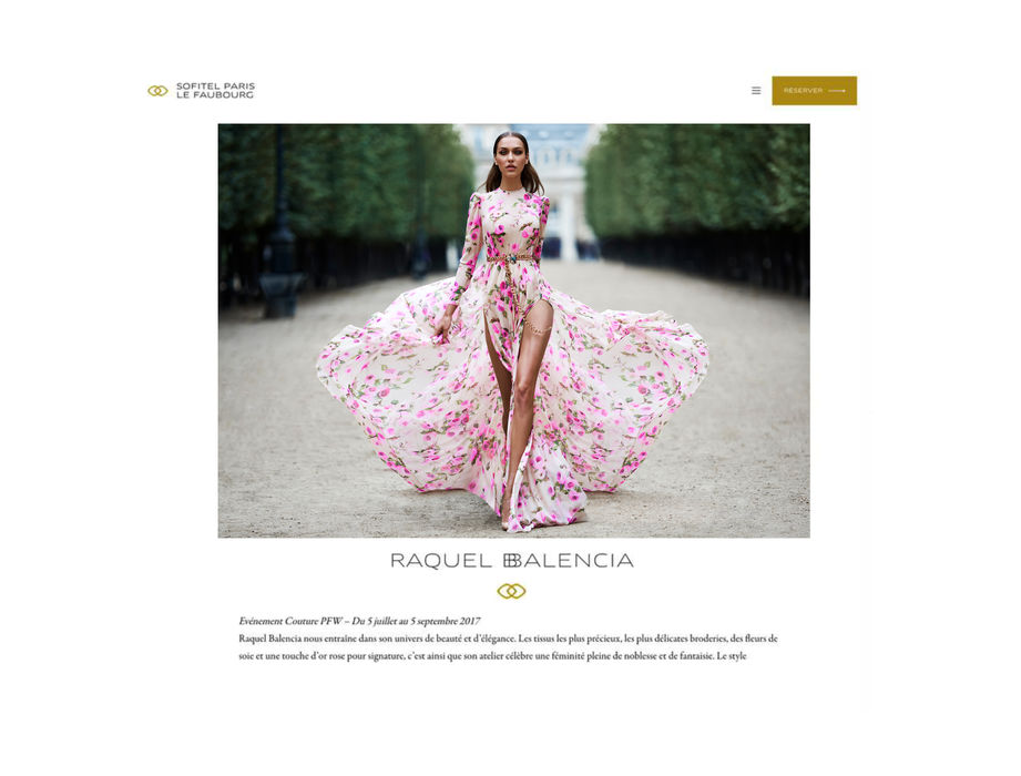 RAQUEL BALENCIA EXHIBITION OPENING IN SOFITEL PARIS LE FAUBOURG HOTEL, DURING PARIS HAUTE COUTURE 2018 FASHION WEEK2