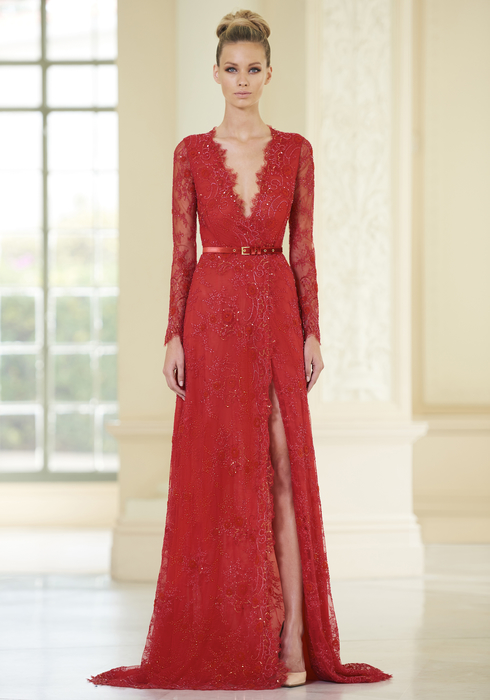 Embroidered French Lace gown