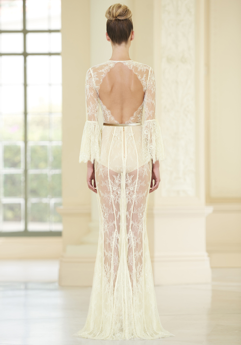 Embroidered French Lace gown2