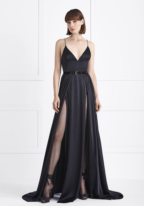 Satin silk gown