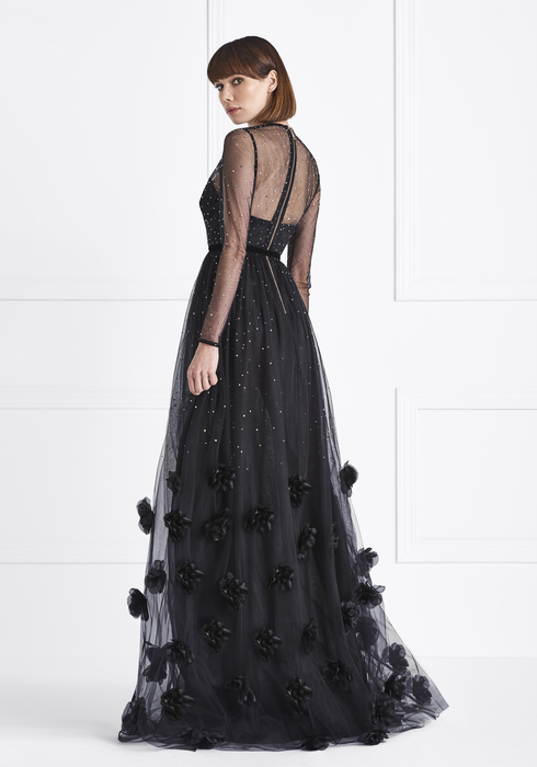 Embroidered Tulle gown2
