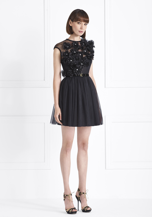 Embroidered Tulle MiniDress