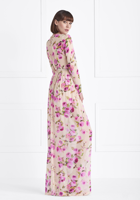 Georgette Silk gown2