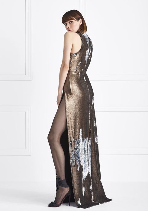 Sequined gown2