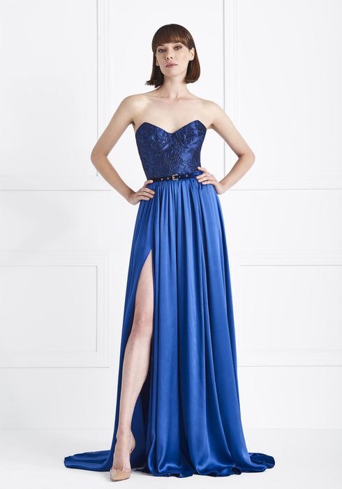 Duchesse and Satin Silk Gown