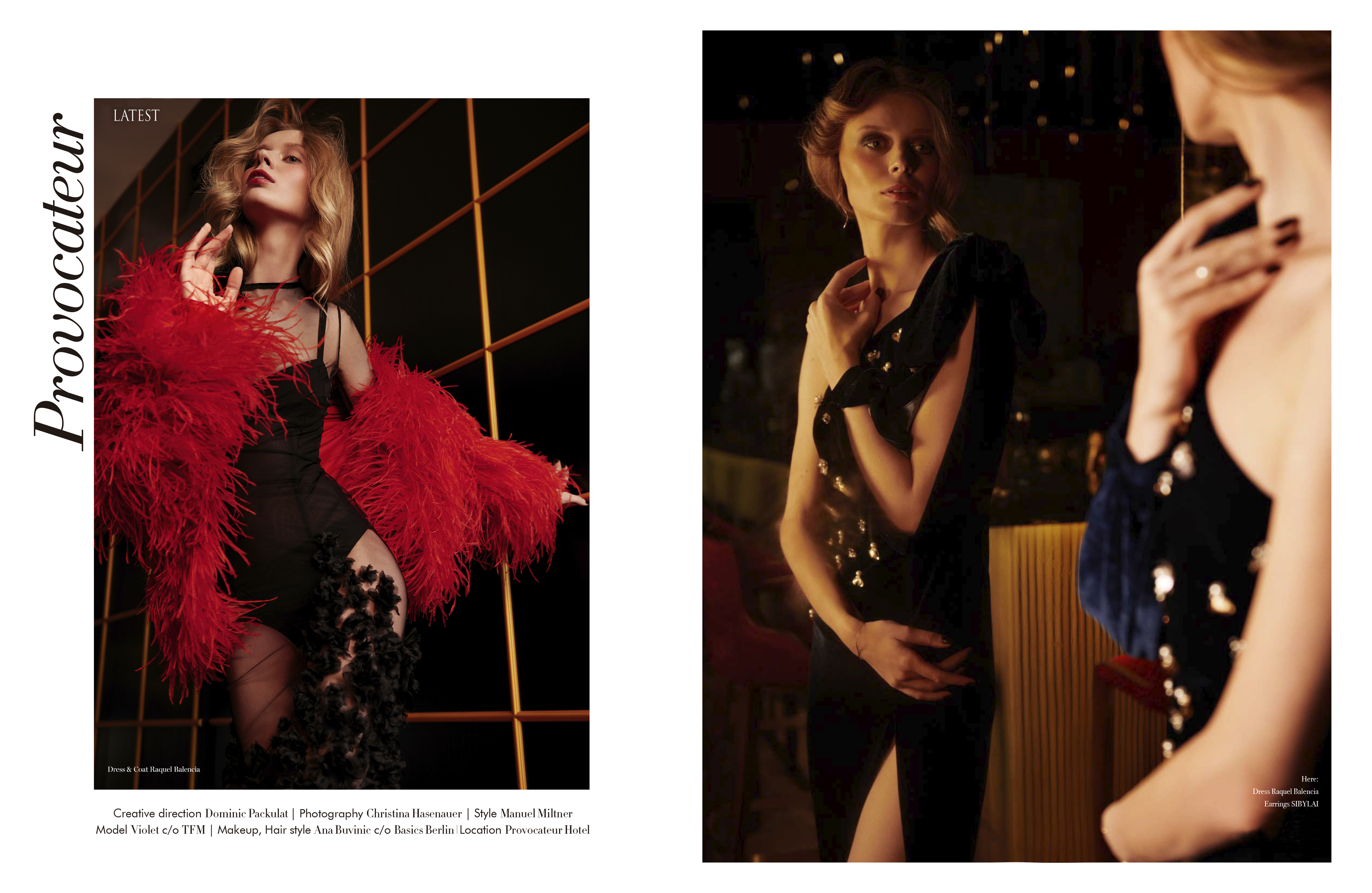 RAQUEL BALENCIA FEATURED IN LATEST MAGAZINE FEBRUARY ISSUE BY CHRISTINA HASENAUER