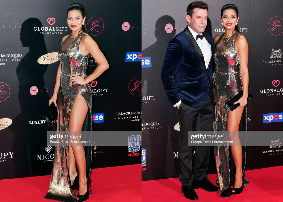 REBECCA LISCANO DRESSED BY RAQUEL BALENCIA FOR GLOBAL GIFT FOUNDATION GALE MADRID 20192
