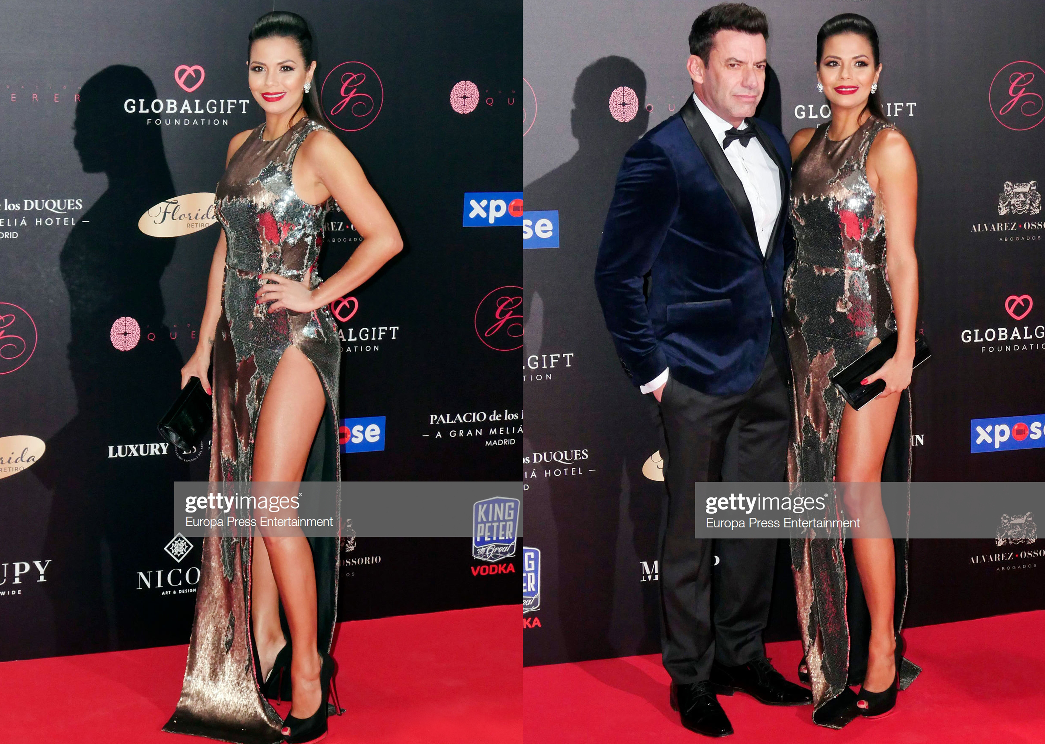 REBECCA LISCANO DRESSED BY RAQUEL BALENCIA FOR GLOBAL GIFT FOUNDATION GALE MADRID 2019