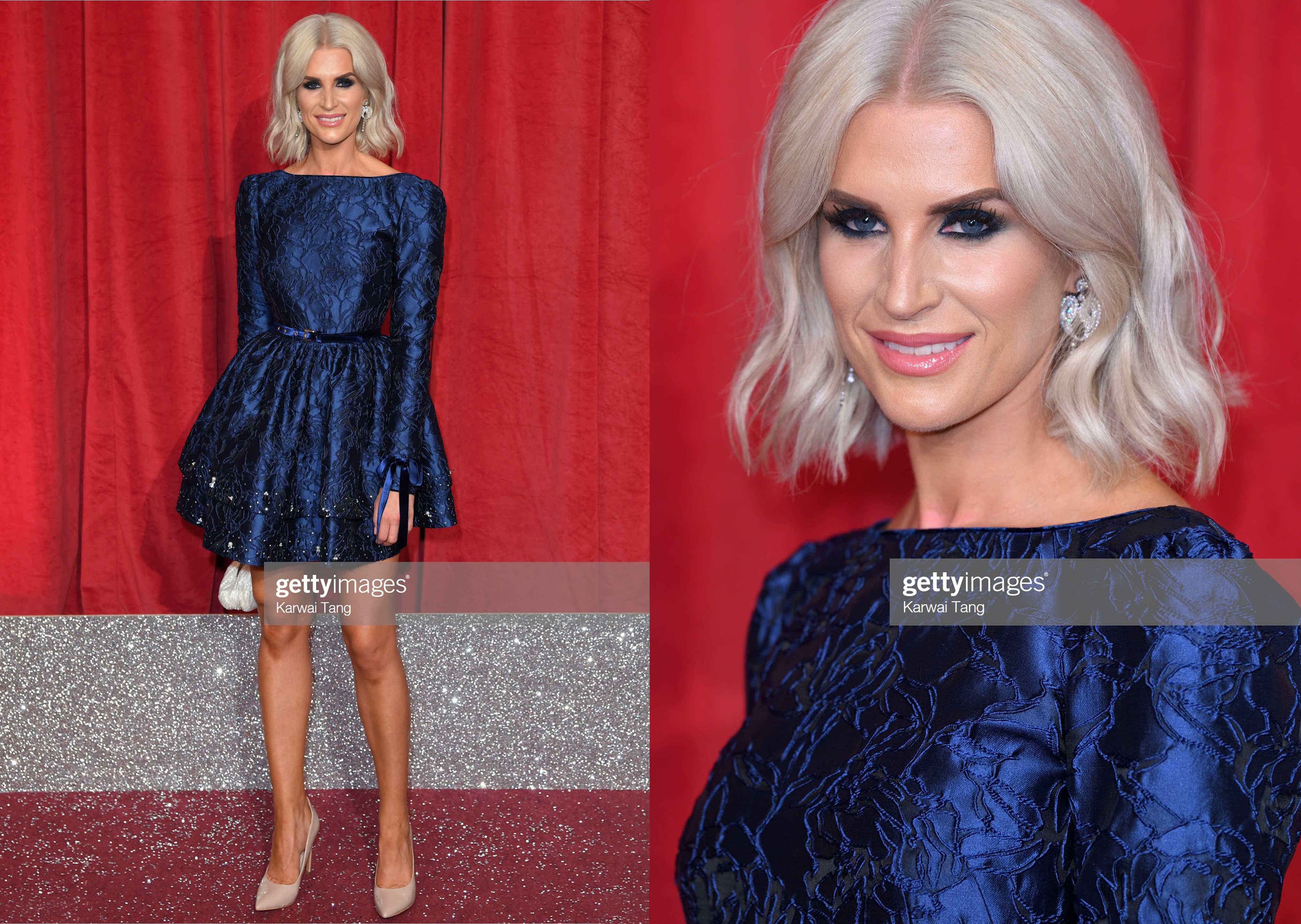 SARAH JAYNE DUNN DRESSED BY RAQUEL BALENCIA FOR BRITISH SOAP WARDS 2019
